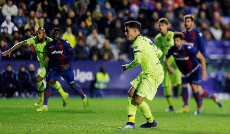 Përfundon ndeshja  Barcelona   Levante