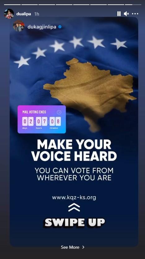 dua lipa1 1 - Dua Lipa dhe babai i saj u bëjnë thirrje qytetarëve të Kosovës që të dalin të votojnë më 14 shkurt